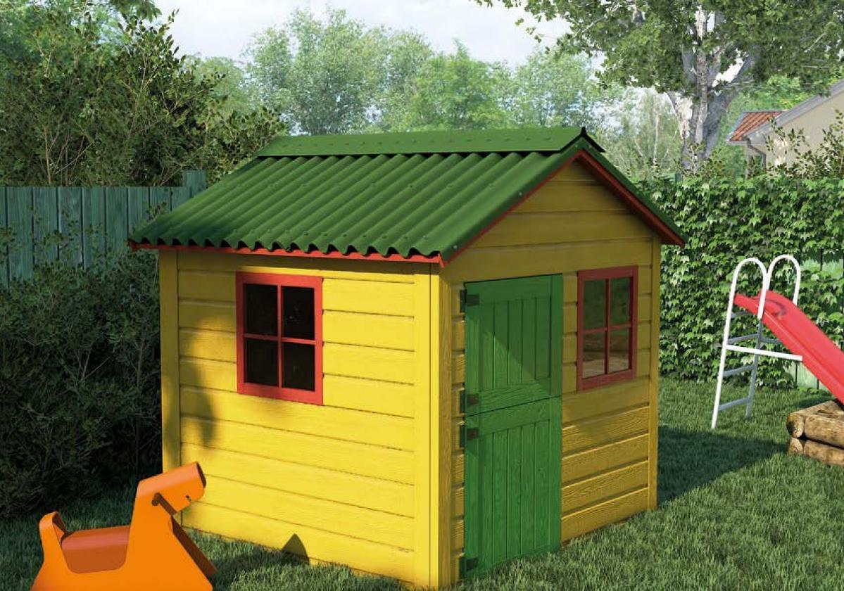 EASYLINE Intense zelená na zahradním domku