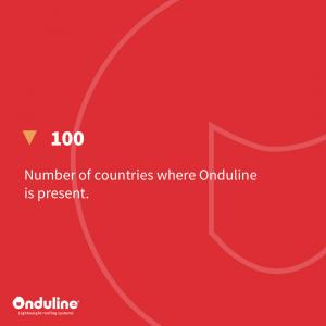 [ONDULINE FIGURES] Onduline is present in 100 countries with a very large distr…