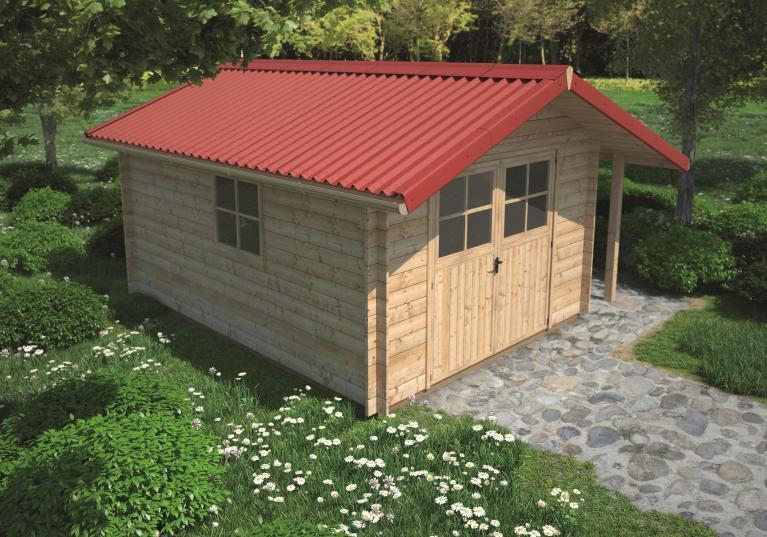 Zahradní domek s krytinou Onduline EASYFIX